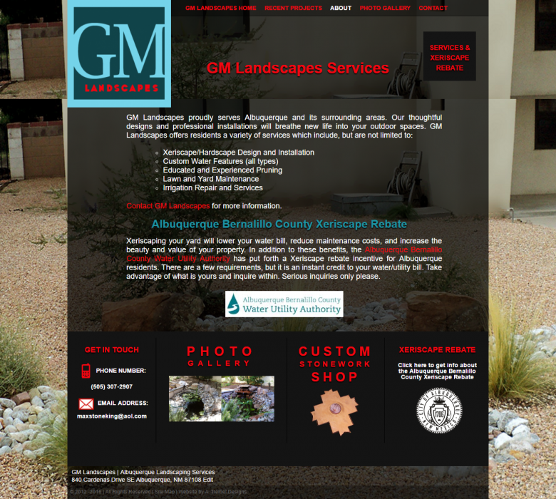 GM Landscapes – Website – Hi Lo Design Co , LLC